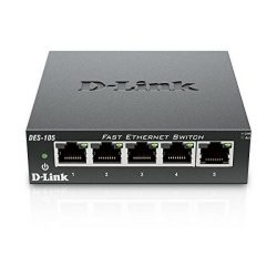 Asztali Kapcsoló D-Link DES-105 LAN Fekete