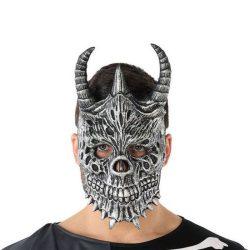 Maszk Halloween Démon Csontváz Szürke (20 X 33 cm)
