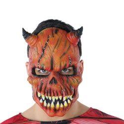 Maszk Halloween Démon Csontváz Piros (21 X 25 cm)