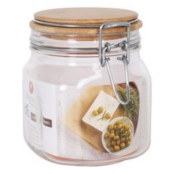 Átlátszó üvegedény Borgonovo Hermetikus 750 ml