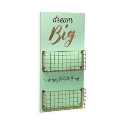 Fali Dekoráció Dream Big Fa MDF/Fém (5 x 50 x 24 cm)