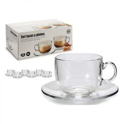 6 Csésze Alátéttel Készlet 450 ml