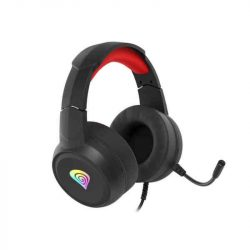 Bluetooth Headset Mikrofonnal Genesis Neon 200 Fekete Piros